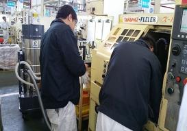 Solid-liquid separation of a CNC processing machine
