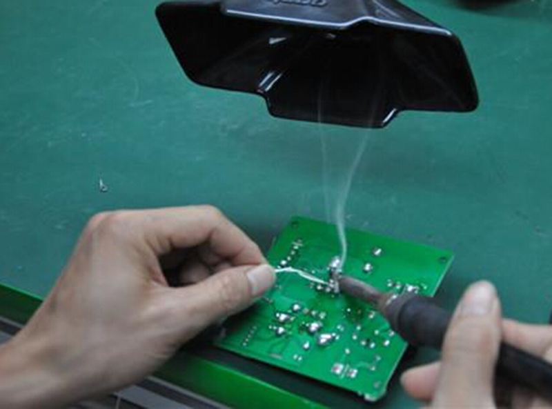 HS is used in electronic soldering fume purification