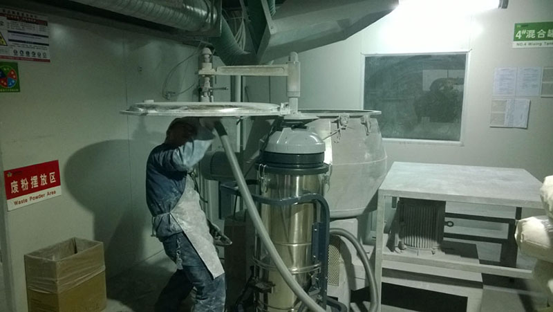 P3J is used for dust extraction in a dust processing plant
