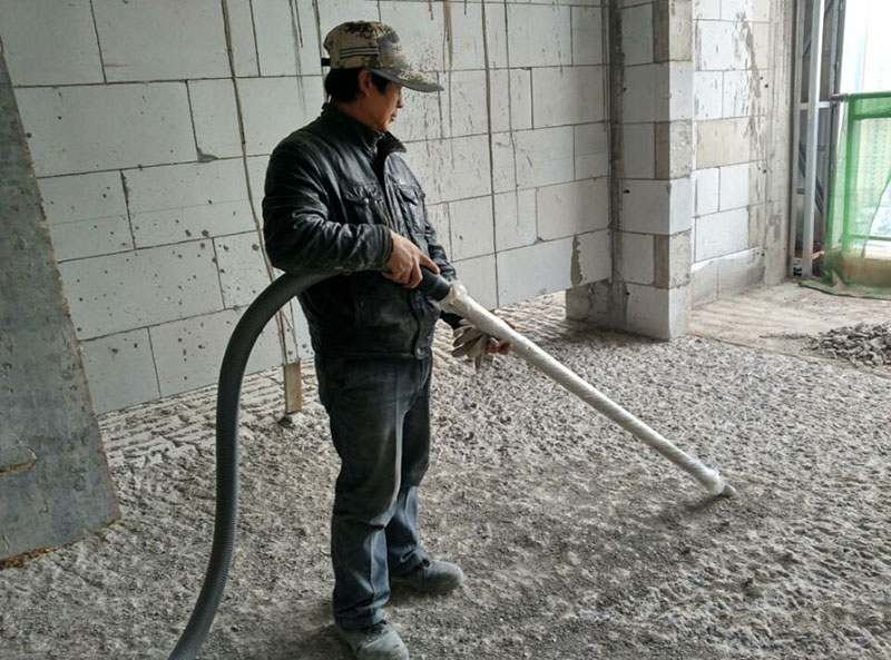 PKB-40 is used for cleaning operations at a construction site