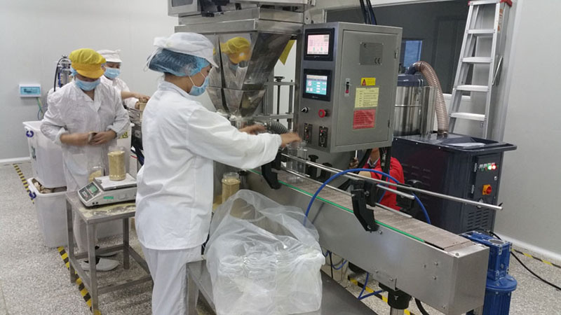 PGB-55 is used to vacuum the production line of a food factory