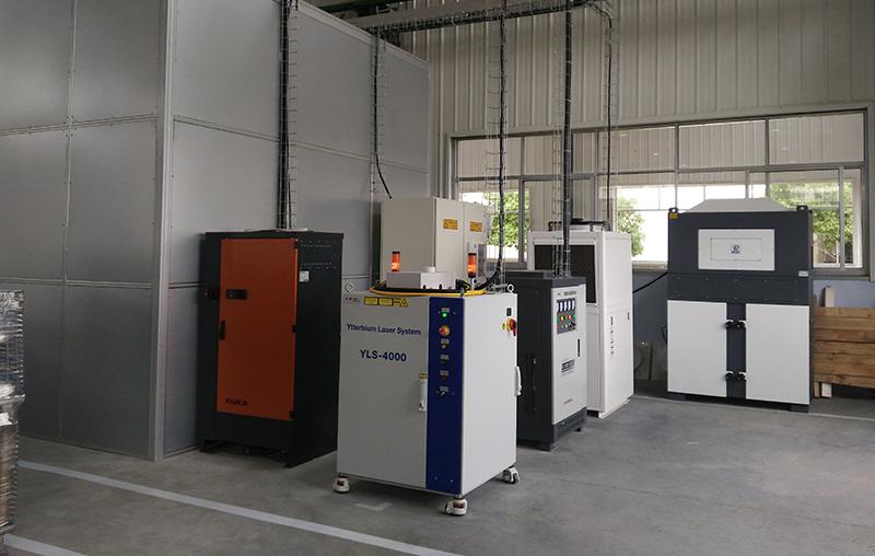 Laser welding station